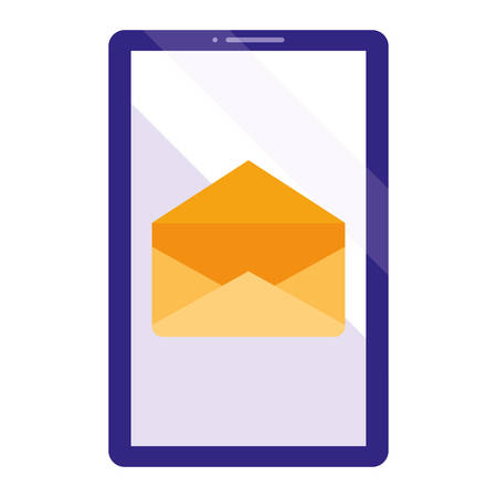 smartphone device with envelope vector illustration design Ilustração