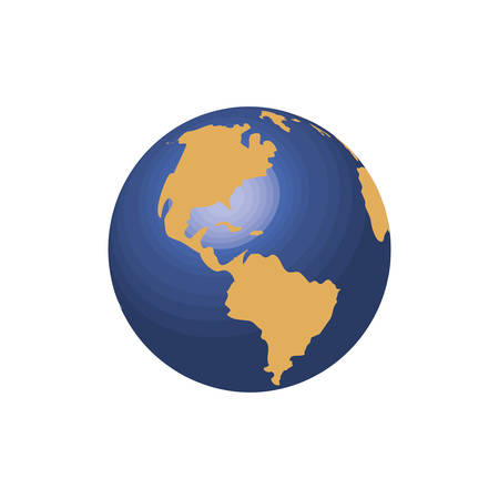 world planet earth icon vector illustration design Stockfoto - 122605574
