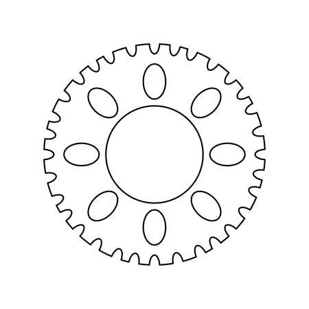 Piñón de engranaje de la máquina icono aislado diseño ilustración vectorial