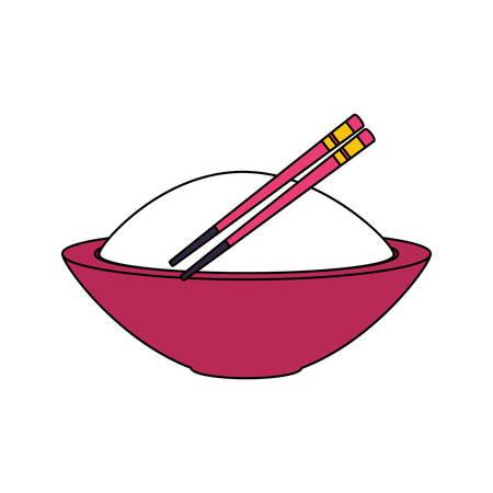 rice dish chinese food icon vector illustration design