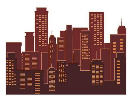 gebouwen metropool stadsgezicht scène vector illustratie ontwerp Vector Illustratie