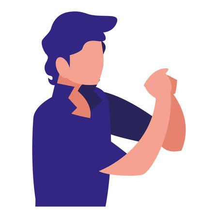 musician classic avatar character vector illustration design
