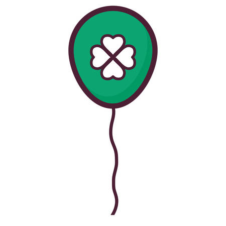 balloon helium with st patrick clover leaf vector illustration design Vectores