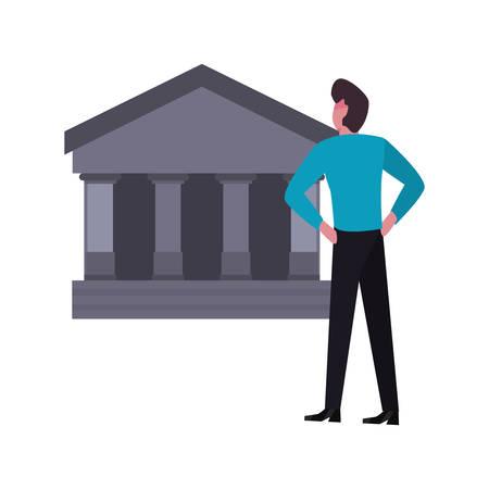 businessman money bank invest vector illustration vector illustration Ilustração