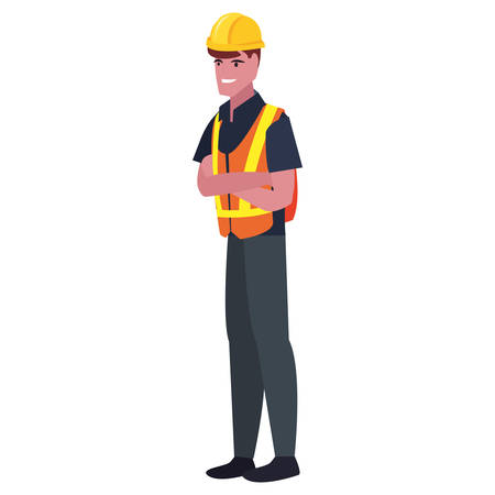 worker employee profession labour day vector illustration  イラスト・ベクター素材