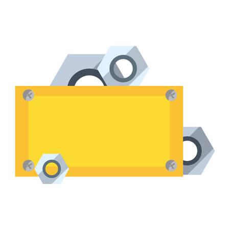 nuts construction board tool vector illustration design  イラスト・ベクター素材