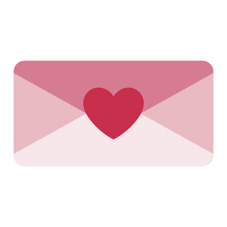 envelope letter love icon vector illustration design