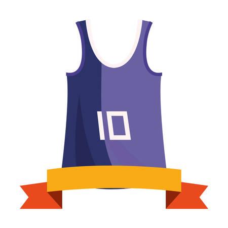 basketball tank top sport jersey ribbon vector illustration