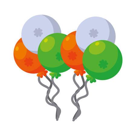 saint patricks balloons helium vector illustration design