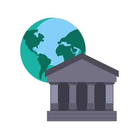 bank world trade on white background vector illustration Stockfoto - 122532540