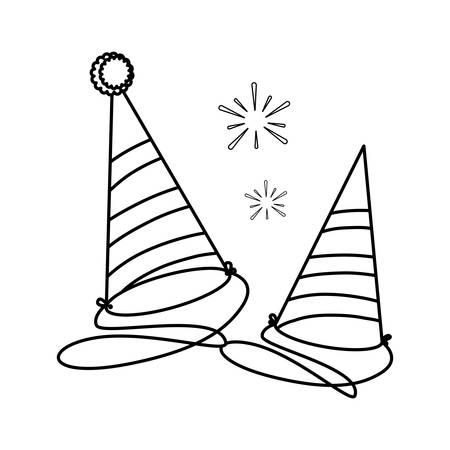 party celebration hats icon vector illustration design