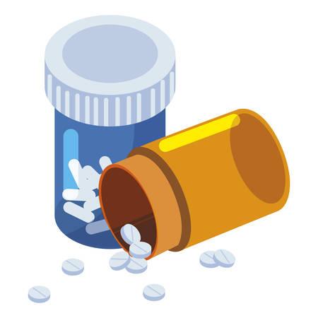 medicine pot drugs icon vector illustration design Illustration