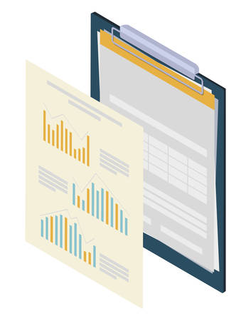 checklist clipboard with documents vector illustration design