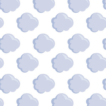 pattern of clouds nature icons vector illustration design