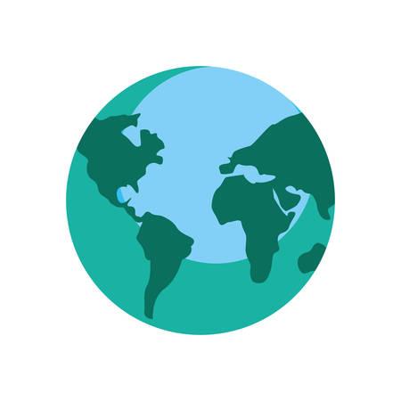 world map planet on white background vector illustration
