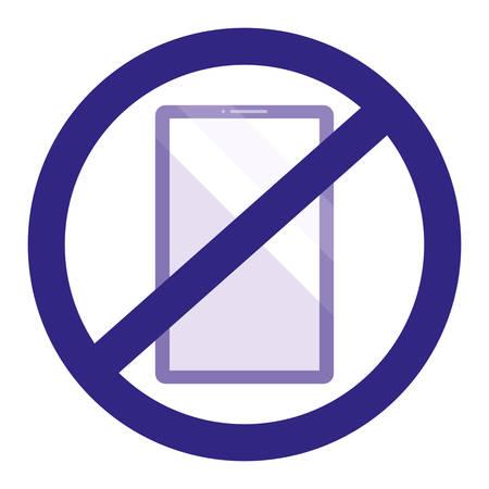 smartphone device with denied symbol vector illustration design Illustration