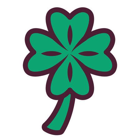 st patrick clover leaf vector illustration design