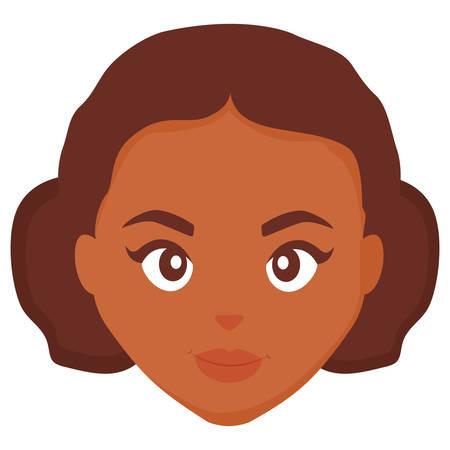 beautiful woman head character vector illustration design Çizim