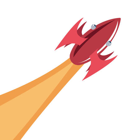 rocket launch travel galaxy vector illustration design Illustration
