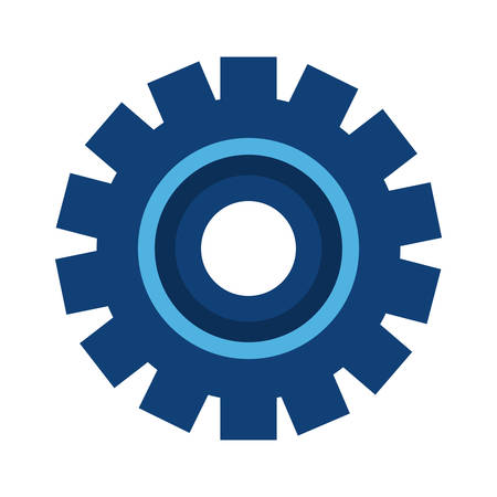 gear wheel icon on white background vector illustration