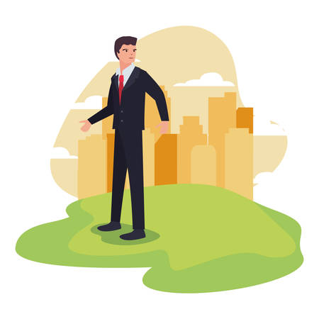 businessman profession labour day vector illustration design