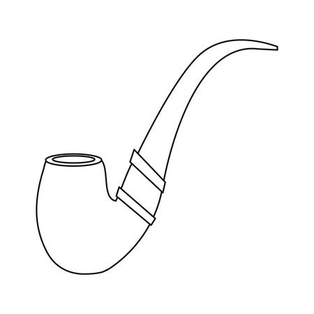 tobacco pipe icon on white background vector illustration Ilustrace