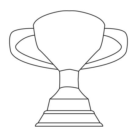 award trophy cup on white background vector illustration