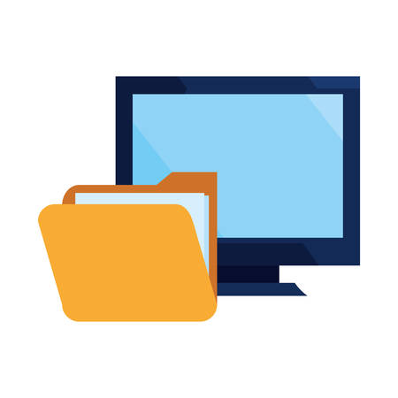 computer folder file cybersecurity data protection vector illustration 向量圖像