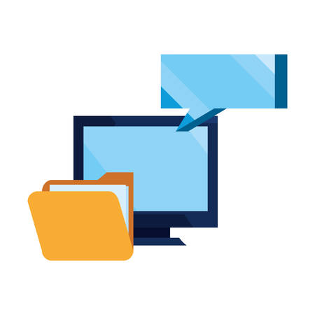 computer message folder file cybersecurity data protection vector illustration Illustration