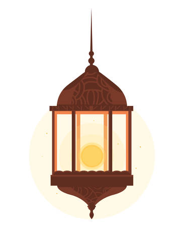 ramadan kareem lamp hanging vector illustration design Imagens - 122147679