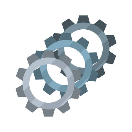 gears cogwheel mechanic on white background vector illustration design Illusztráció