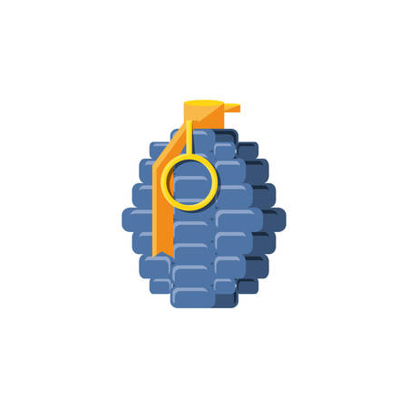 grenade explosive isolated icon vector illustration design  イラスト・ベクター素材
