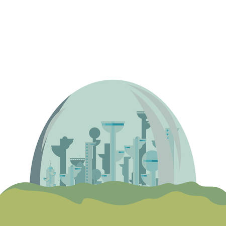 futuristic city building urban  vector illustration design