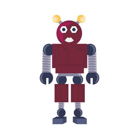 Icono de robot de dibujos animados sobre fondo blanco ilustración de vector de diseño colorido Ilustración de vector