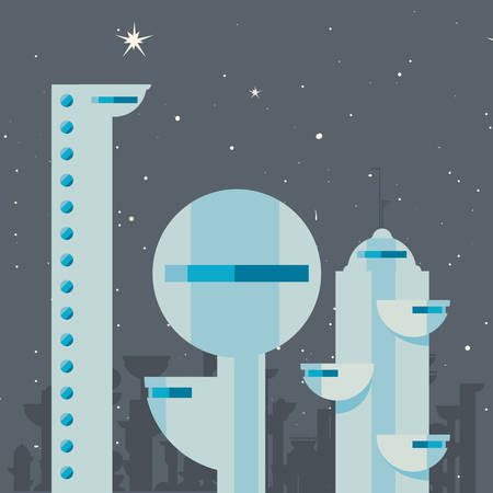 future building architecture city space vector illustration design Stock Illustratie