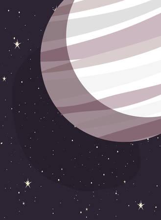 planet space stars galaxy vector illustration design Ilustração