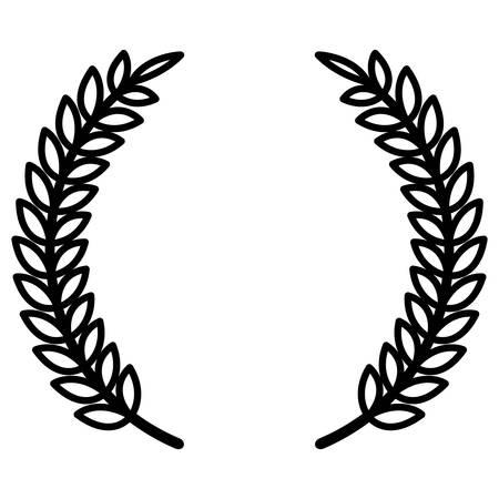 wreath leafs crown premium vector illustration design