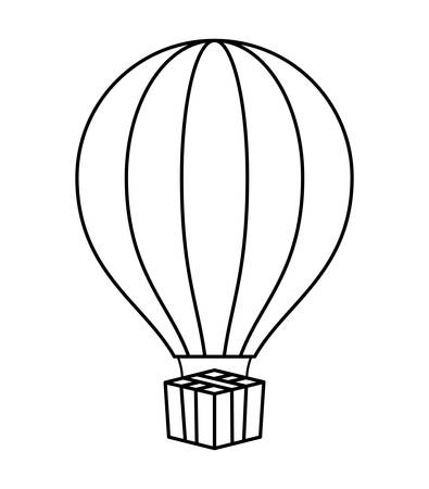balloon air hot isolated icon vector illustration design Ilustrace