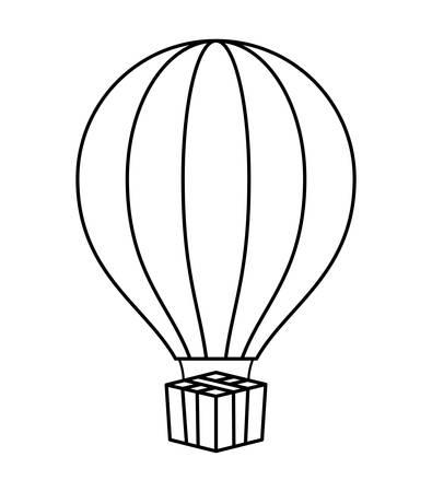balloon air hot isolated icon vector illustration design Illustration