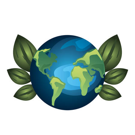 world leaves nature earth day vector illustration