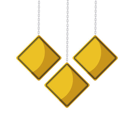 set signage hanging isolated icon vector illustration design
