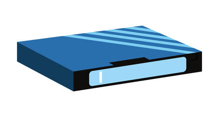 videotape beta box cover retro 80s style vector illustration Vector Illustration