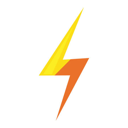 thunderbolt ray power on white background vector illustration