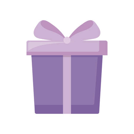 gift box present with bow icon vector illustration design