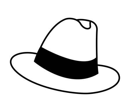 elegant gentleman hat icon vector illustration design Vettoriali