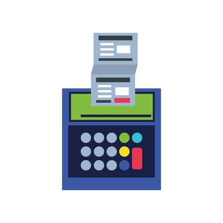 calculator math finance with document vector illustration design Illustration
