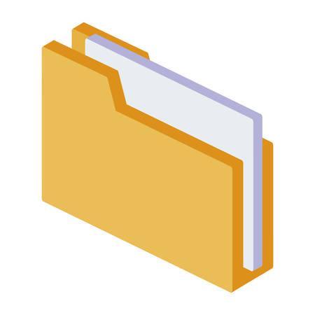 folder documents isolated icon vector illustration design Ilustração