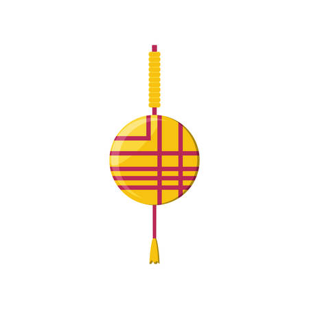 chinese lantern isolated icon vector illustration design