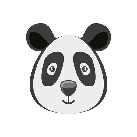 head of  panda wildlife animal icon vector illustration design Standard-Bild - 122663737