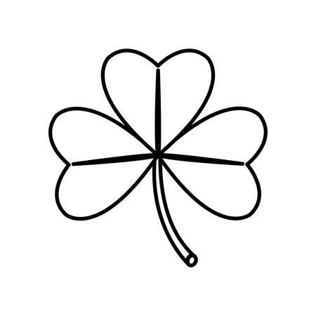 clover leaf saint patricks day vector illustration design